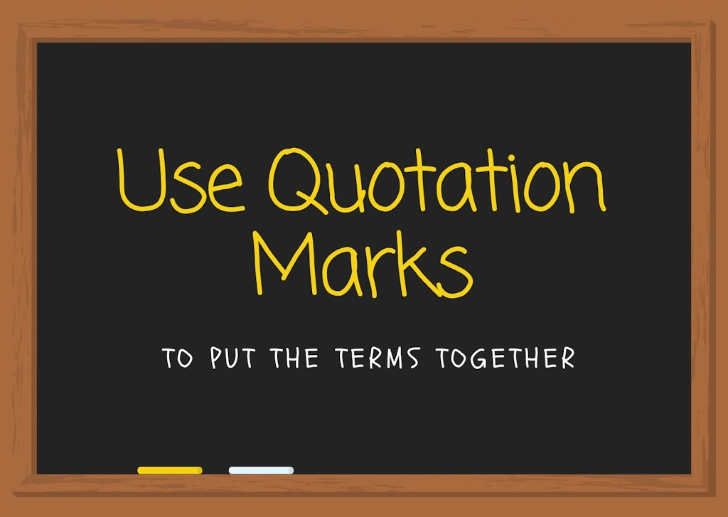 Google search tips & tricks - use quotation mark