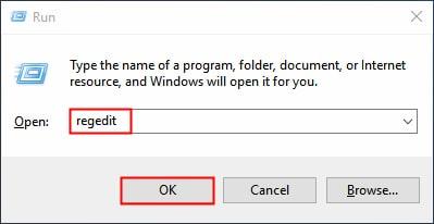 Open Registry Editor-Windows 10