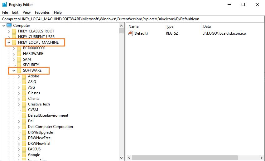 Change Local Drive Icon Using Windows 10 Registry Editor-registry editor