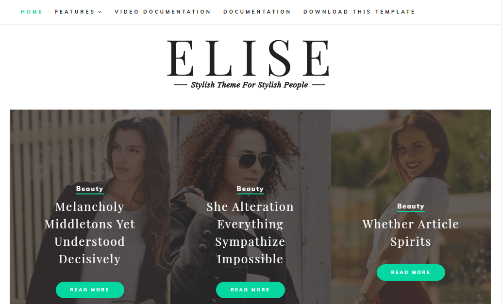 Elise Blogger Template- free and responsive education blogger template