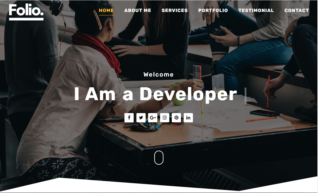 FOLIO Blogger Template- free and responsive portfolio blogger template