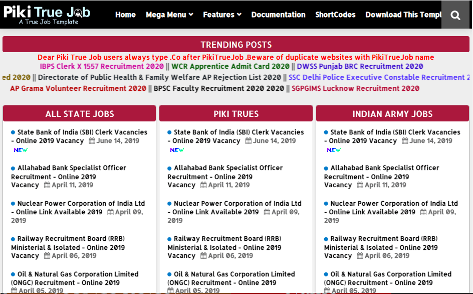 Piki True Job- Free and Responsive Job Listing Blogger Template
