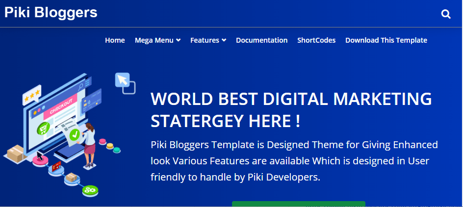 Piki blogger free responsive blogger template-new, magazine and personal blog
