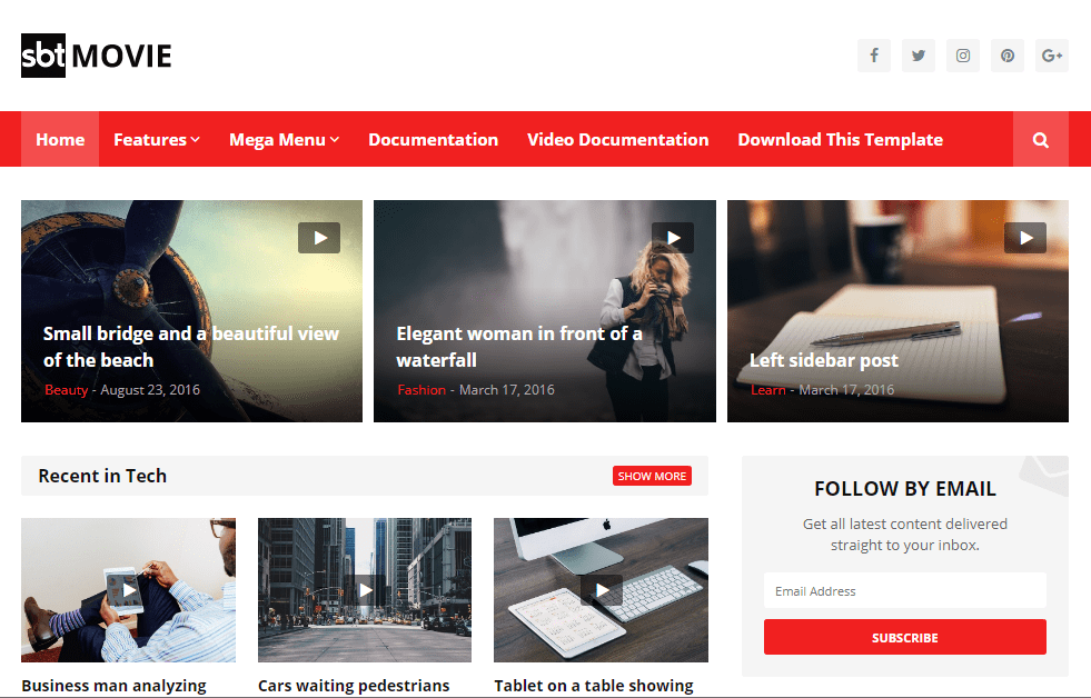 SBT Movie Blogger Template- free and responsive Video and Movie Review Blogger Template