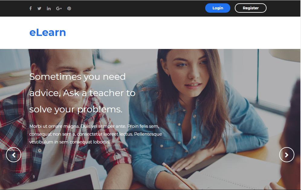 eLearn Blogger Template- free and responsive education blogger template